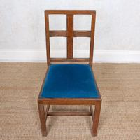 6 Arts & Crafts Carved Oak Dining Chairs (7 of 10)