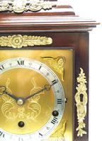 Superb Mahogany Caddy Top Mantel Clock Dual Musical Bracket Clock by Elliott (7 of 9)