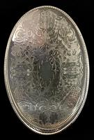 Vintage Chased Silver Plated Oval Gallery Tray (2 of 4)