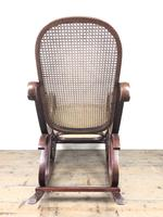 Bentwood Rocking Chair with Cane Seat (3 of 10)
