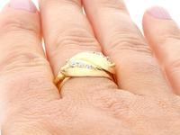 0.54ct Diamond & 18ct Yellow Gold Snake Dress Ring - George V 1931 (9 of 9)
