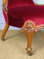 Good Mahogany Nursing Chair Red Velvet 19th Century (10 of 10)