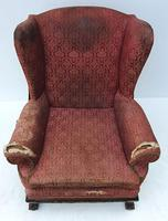 Irish Chippendale Design 19th Century Mahogany Wing Back Armchair (5 of 9)