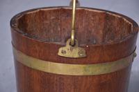 George III Style Brass Bound Mahogany Bucket (4 of 5)