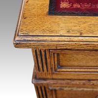 Victorian Oak Twin Pedestal Desk (2 of 12)
