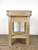 Rustic Wooden Butcher's Block with Marble Top (9 of 10)
