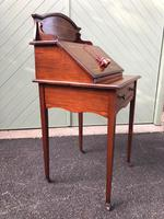 Edwardian Inlaid Mahogany Writing Desk (4 of 10)