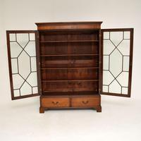 Antique Georgian Mahogany Astral Glaze Bookcase (11 of 12)