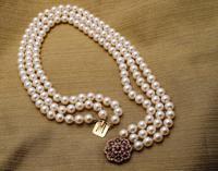 Three Strand Akoya Pearl Necklace (4 of 6)