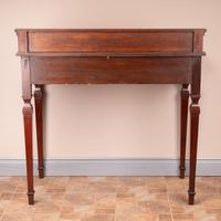 Edwardian Inlaid Mahogany 2 Drawer Side Table (14 of 15)