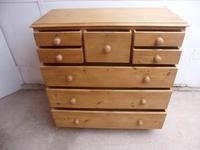 Lovely Waxed Early Victorian Antique Pine 8 Drawer Chest of Drawers (10 of 12)