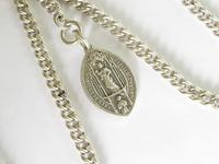 Antique Silver Double Watch Chain and Giggleswick Fob (2 of 2)
