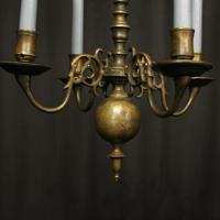English Pair of Bronze Antique Chandeliers (3 of 10)