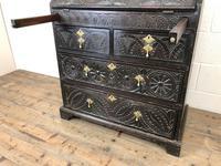 Antique Carved Oak Bureau (4 of 14)