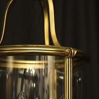 French Gilded Triple Light Antique Lantern (9 of 10)
