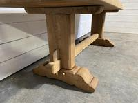 French Bleached Oak Farmhouse Table Nice Thick Top (6 of 14)