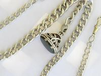 Antique Silver Double Watch Chain and Fob (2 of 4)
