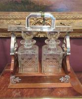 Unusual Victorian Antique Silvered Split Opening Tantalus (8 of 8)