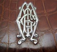 Antique Edwardian Solid Sterling Silver Mounted Crocodile Skin Leather Wallet Purse Card Stamp Case c.1910 (9 of 9)