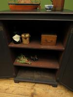 Antique Black Painted Storage Cabinet, Gothic Shabby Chic, Spillman & CO, London (16 of 17)