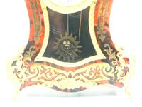 Wow! Phenomenal French Boulle Mantel Clock Ormolu Inlay 8 Day Visible Pendulum Mantle Clock (4 of 10)