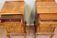 Quality Pair of Burr Walnut Bedside Cabinets (7 of 14)
