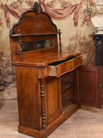 Victorian Chiffonier Sideboard Antique Mahogany c.1860 (7 of 8)