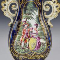 Chelsea Porcelain Gold Anchor Period Blue Ground Vase c.1765 (11 of 14)