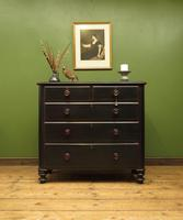 Antique Painted Black Chest of Drawers (13 of 16)