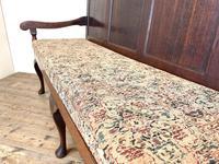 Antique George III Oak Settle Bench (6 of 10)