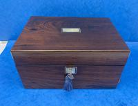 Victorian Rosewood Jewellery Box with Side Drawer (3 of 12)