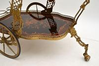 Vintage Italian Brass & Marquetry Drinks Trolley (8 of 14)