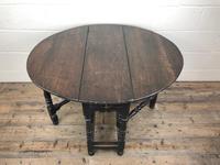 Antique 19th Century Small Oak Gateleg Table (3 of 8)