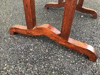 Arts & Crafts Oak Occasional Table (4 of 6)