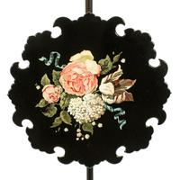 Pair of Edwardian Pole Screens (6 of 8)