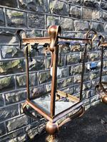 Pair of Antique Brass & Copper Lantern Lamps (9 of 10)