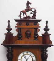Victorian 8-day Wall Clock – Antique Striking Vienna Wall Clock by Hac (7 of 14)