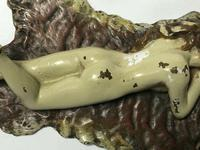 Austrian Franz Bergman Cold Painted Bronze Erotic Nude Lady Reclining Tiger Rug (8 of 13)