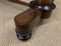 Good William IV Rosewood Library Stretcher Table (4 of 12)