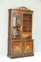 Edwardian Inlaid Rosewood Bookcase (3 of 12)