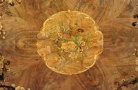 Victorian Walnut Marquetry Inlaid Circular Table (9 of 15)