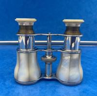 Victorian Silver Plated Mother of Pearl Opera Glasses (7 of 8)