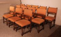 Set of 12 Louis XIII Style Walnut Chairs (3 of 11)