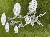 Victorian 19th Century Garden Cast Iron 6 Branch Plant Stand Coalbrookdale Style (9 of 27)
