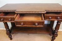 Antique Oak Victorian Shaped Sideboard Server (13 of 15)