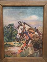 Stunning Oil Painting by Wojciech Kossak (4 of 4)