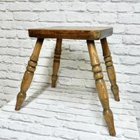 Antique 4-leg Country Stool (3 of 6)