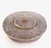 Very Rare 18th Century Indian Filigree Silver Padan Box Karimnagar c.1760 (2 of 11)