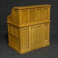 Small Oak Roll Top Desk (12 of 12)