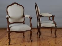 Pair of French Louis XV Style Walnut Armchairs (3 of 9)